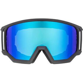 UVEX Athletic CV Gafas, black mat/colorvision blue fire